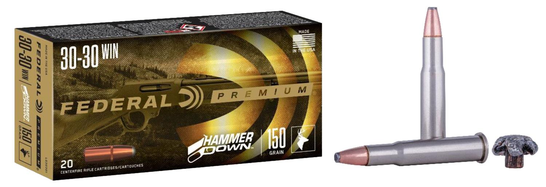 Federal LG30301 Premium HammerDown 30-30 Win 150 gr Bonded Soft Point 20 Bx/ 10 Cs