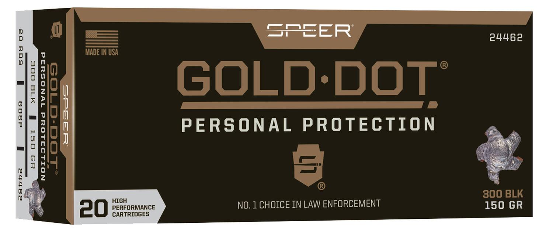 SPR GOLD DOT 300BLK 150GR HP 20/200