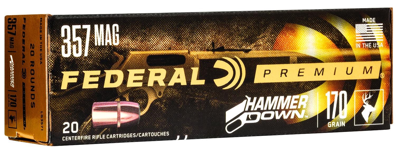 Federal LG3571 Premium HammerDown 357 Mag 170 gr 20 Bx/ 10 Cs