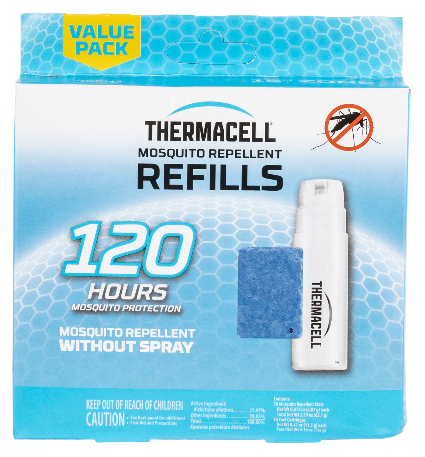 THER R-10 MOSQUITO REPELLENT REFILLS 120 HOURS