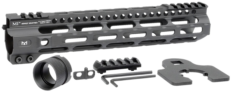 Midwest Industries MICRLW105 Combat Lightweight M-Lok Handguard AR-15 Black Hardcoat Anodized 6061-T6 Aluminum 10.50