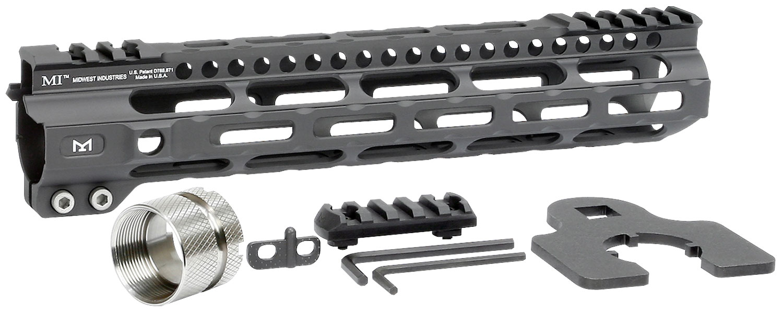 Midwest Industries MIULW105 Ultralight  M-Lok Handguard AR-15 Black Hardcoat Anodized 6061-T6 Aluminum 10.50