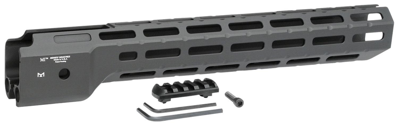 Midwest Industries MICRPC9X Combat  Ruger PC9 M-Lok Handguard Black Hardcoat Anodized 6061-T6 Aluminum 14