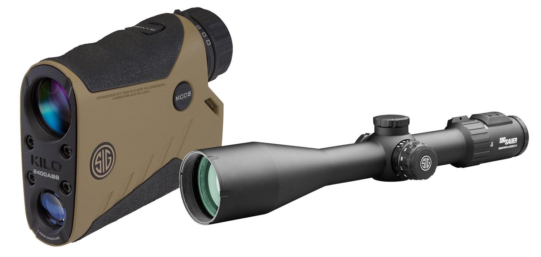 Sig Sauer Electro-Optics SOK24BDX6 BDX Combo Kit Range Finder/Rifle Scope Black/Flat Dark Earth 7x25mm/ 5-30x56mm 2000 yds Max Distance OLED Display