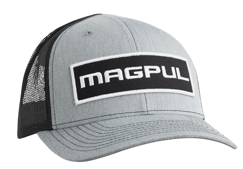 Magpul MAG1104-032 Wordmark Patch Trucker Hat Gray/Black