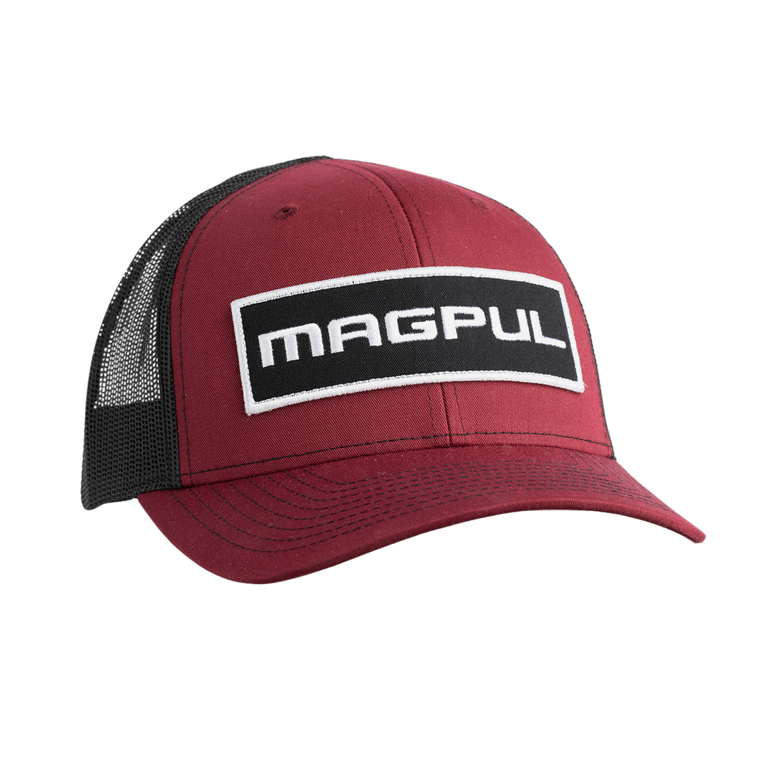 Magpul MAG1104-604 Wordmark Patch Trucker Hat Charcoal Gray/Black