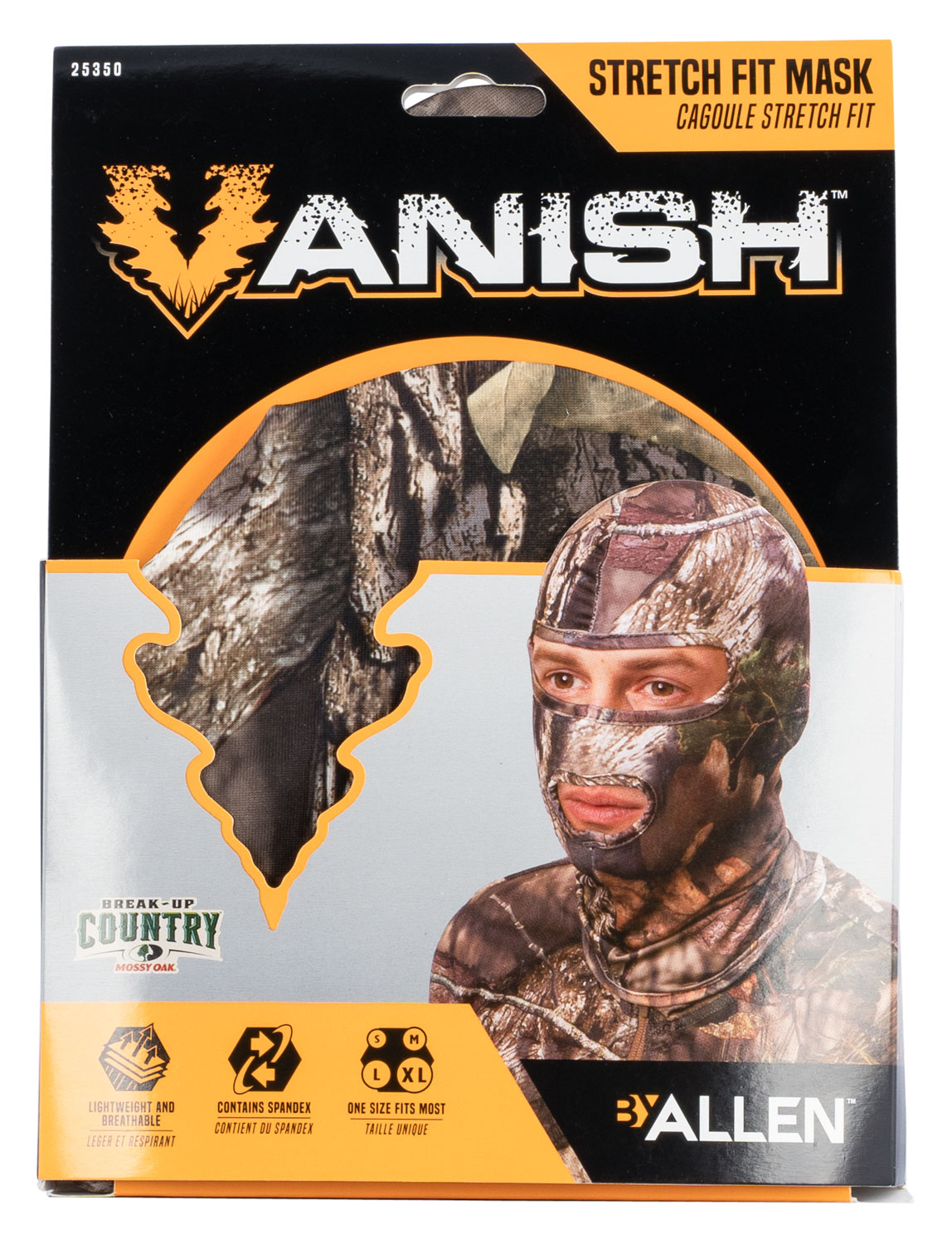 Vanish Mesh Stretch Fit Mask  <br>  Mossy Oak Break Up Country