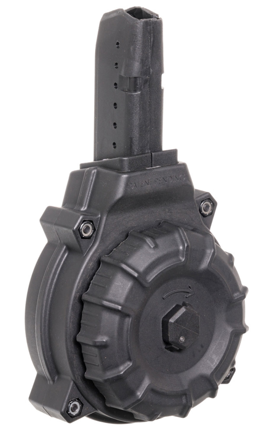 ProMag DRMA12 OEM  9mm Luger AR-15 with Glock Style Mag 50rd Black Drum