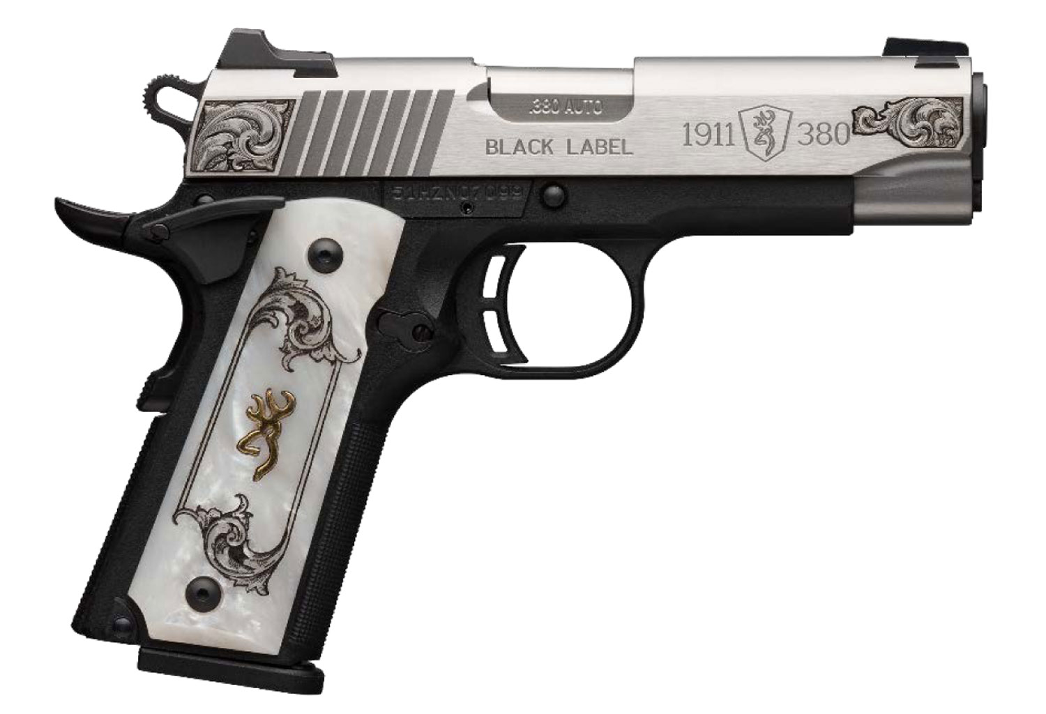Browning 051967492 1911-380 Medallion Compact 380 ACP 3.63
