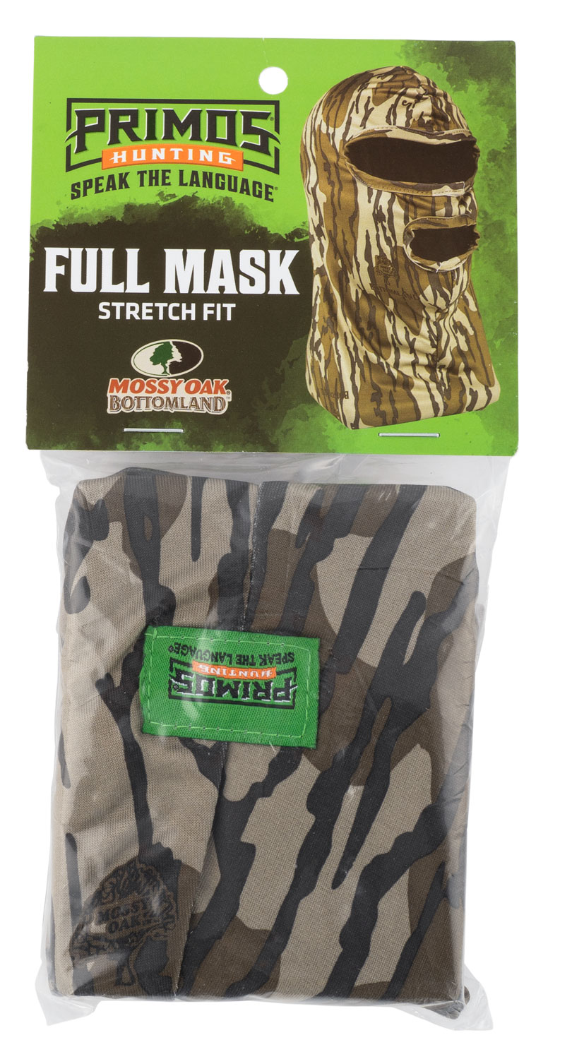 Primos Stretch Full Facemask  <br>  Mossy Oak Bottomland