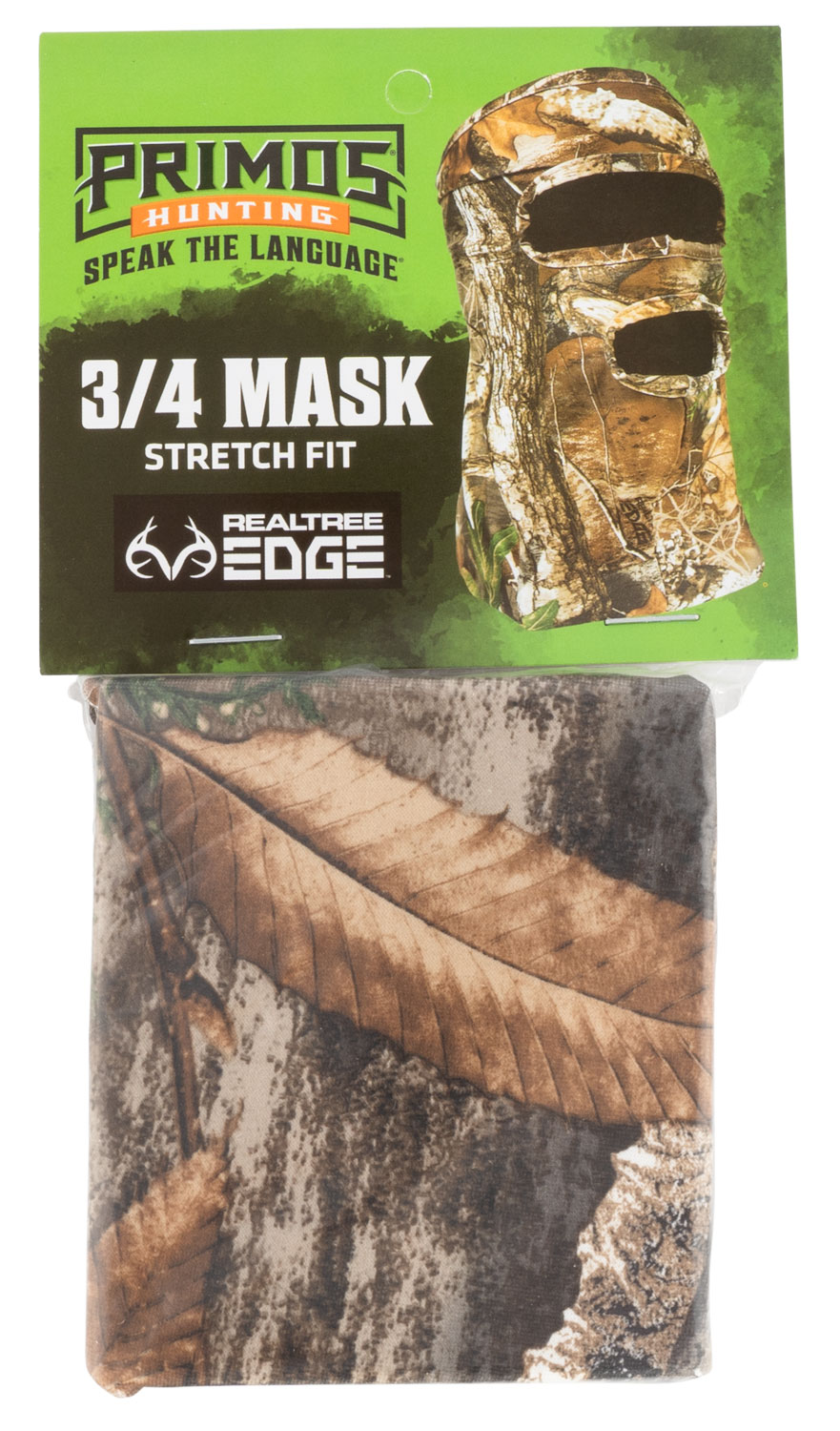 Primos PS6668 Stretch Fit  Realtree Edge Neoprene 3/4 Face Mask OSFA