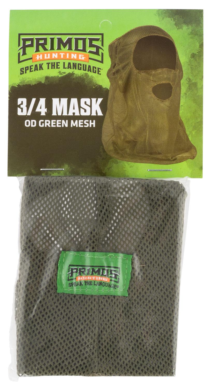 Primos PS6662 Mesh  OD Green Mesh 3/4 Face Mask OSFA