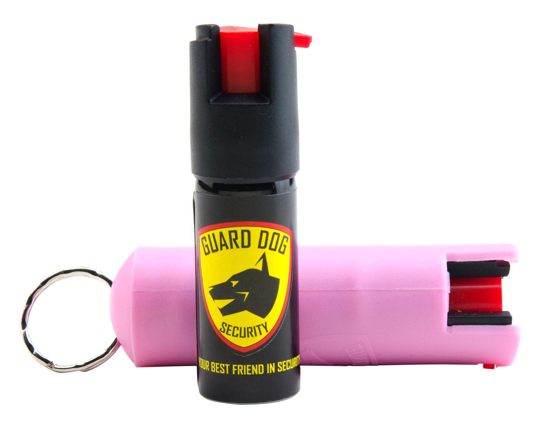 GUARD DOG PEPPER SPRAY PINK HARD CASE W/ KEYRING 1/2 OUNCE