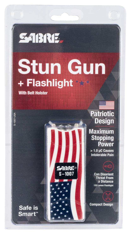Sabre S1007USA USA Stun Gun With Flashlight  Includes Holster