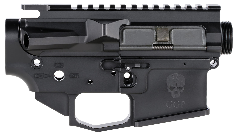 GREY GHOST PRECISION GGPSLIGHTRCVR AR MKII Light Receiver Set AR-15 Platform Multi-Caliber Black Hardcoat Anodized