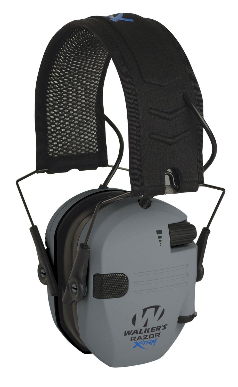 Walkers GWP-XDRSEM-G Razor Pro Digital Polymer 23 dB Over the Head Gray Ear Cups w/Black Band