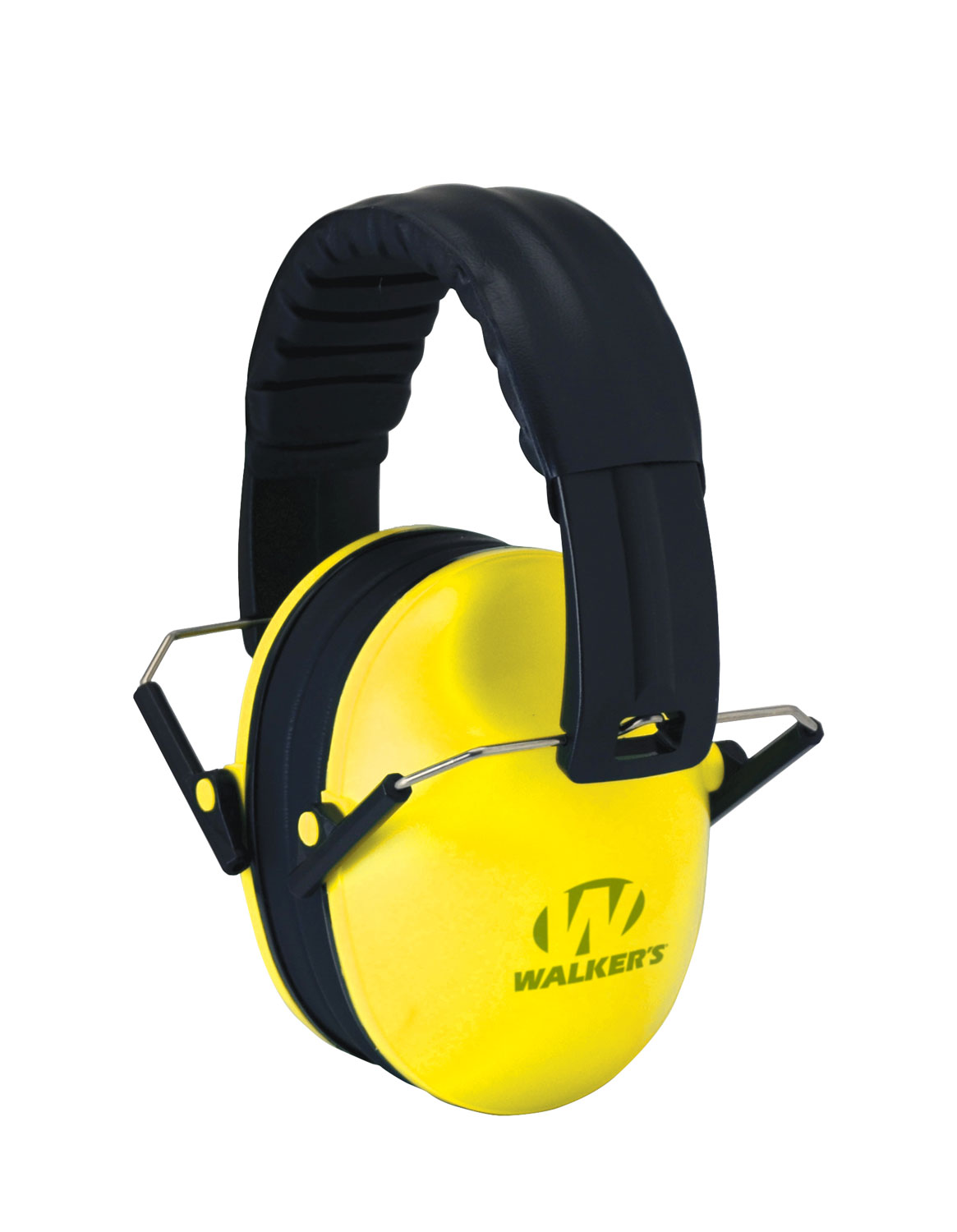 Walkers GWP-FKDM-YL Passive Baby & Kids Folding Polymer 22 dB Over the Head Yellow Ear Cups w/Black Band