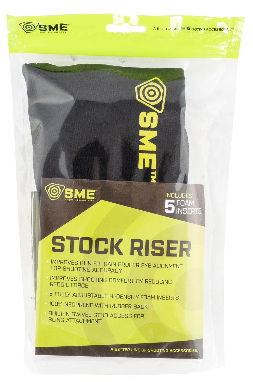 SME SME-RSR Stock Riser  Black Neoprene