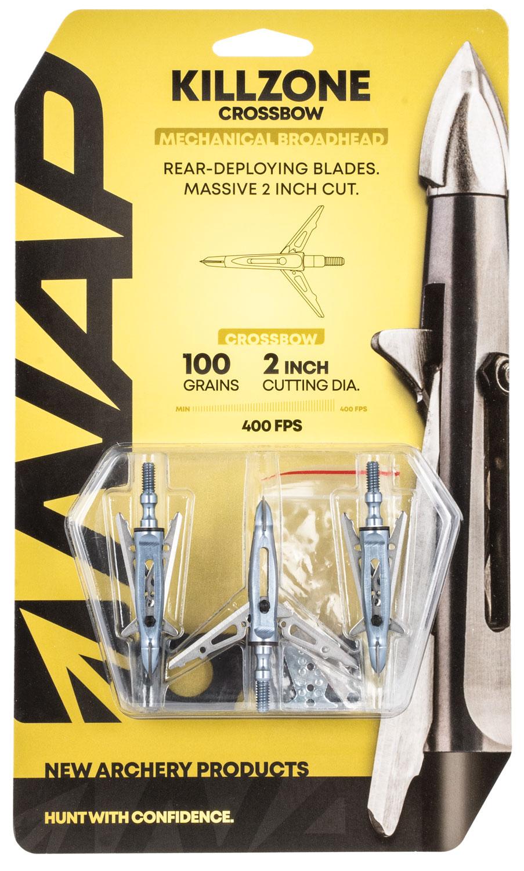 NAP NAP-60-814 Killzone Crossbow 100 grain Broadhead 3 Pack