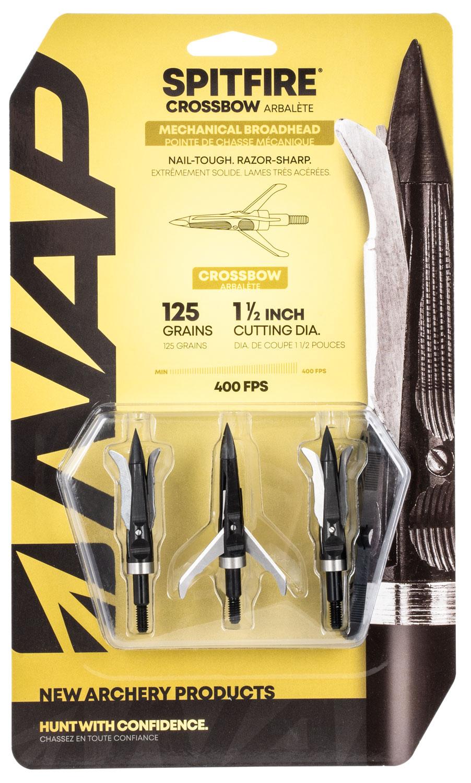 NAP NAP-60-697 Spitfire Crossbow 125 grain Broadhead 3 Pack