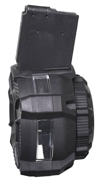 ProMag DRMA24 OEM  223 Rem, 5.56x45mm NATO AR-15 65rd Black Drum with Capacity Window