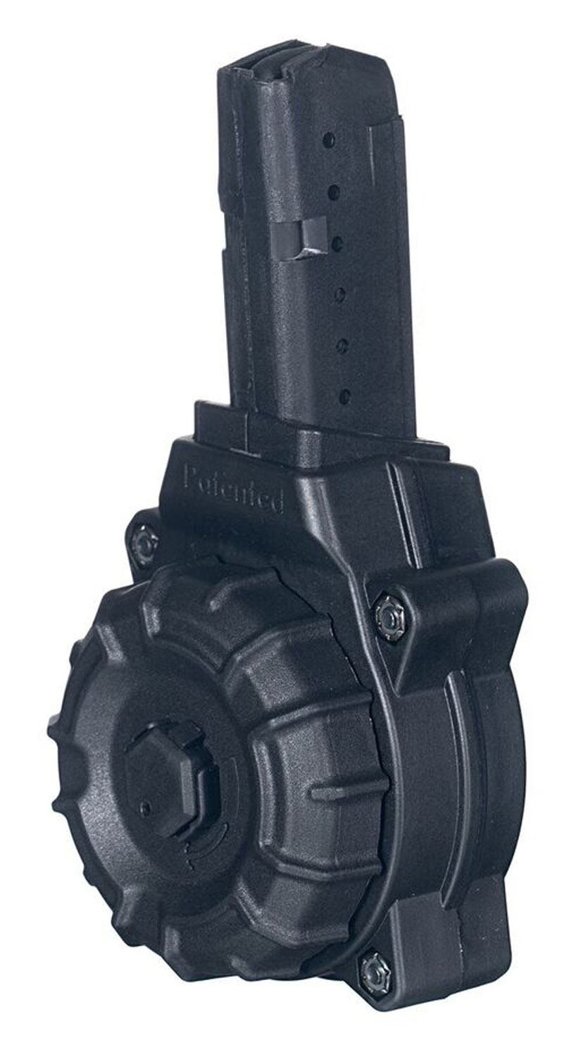 ProMag DRMA26 OEM  9mm Luger AR-15 with Glock Style Mag 30rd Black Drum