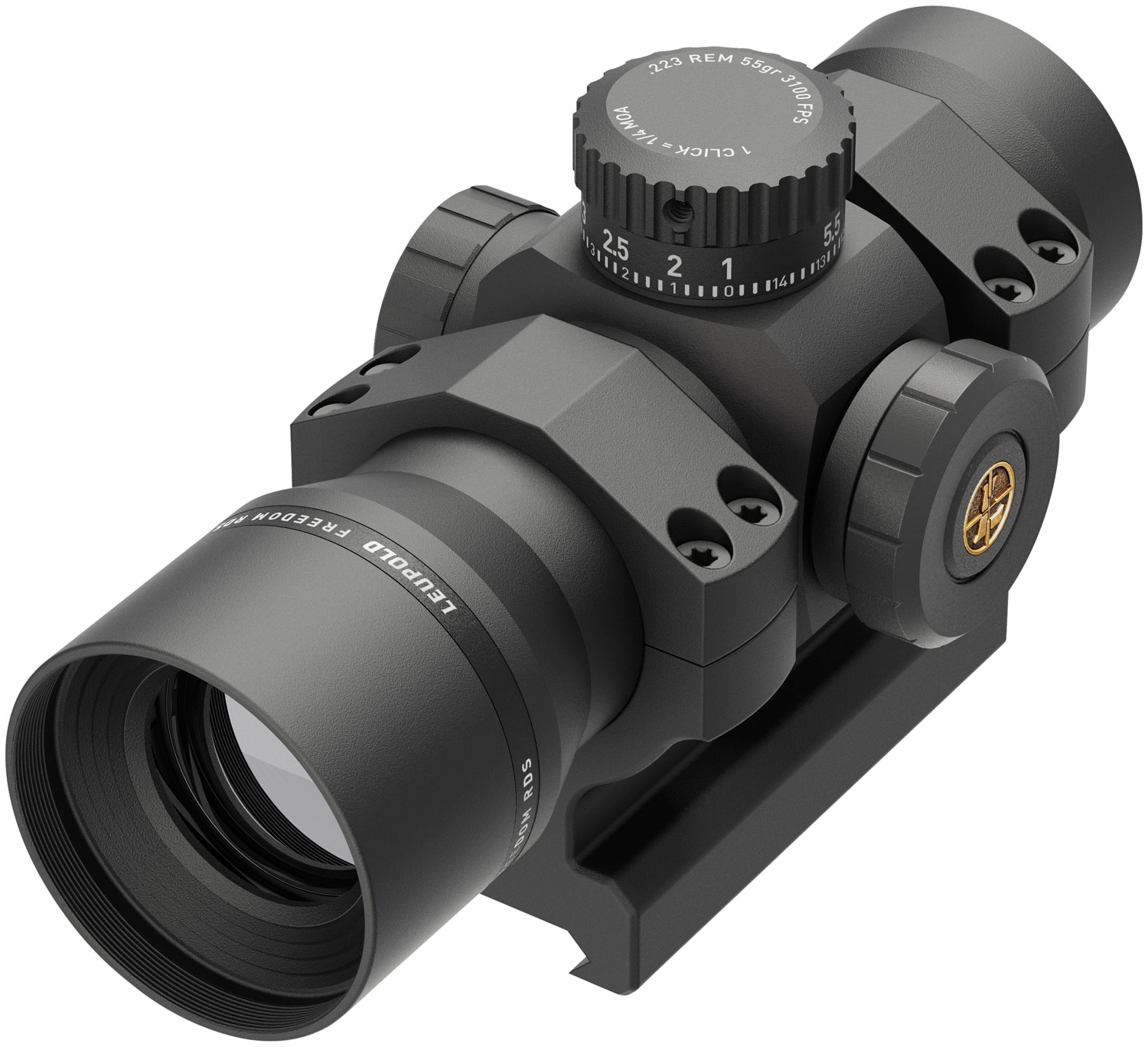 Leupold 180093 Freedom RDS BDC  1x 34mm 1 MOA Dot Illuminated Red Dot Matte Black With AR-Specific Mount