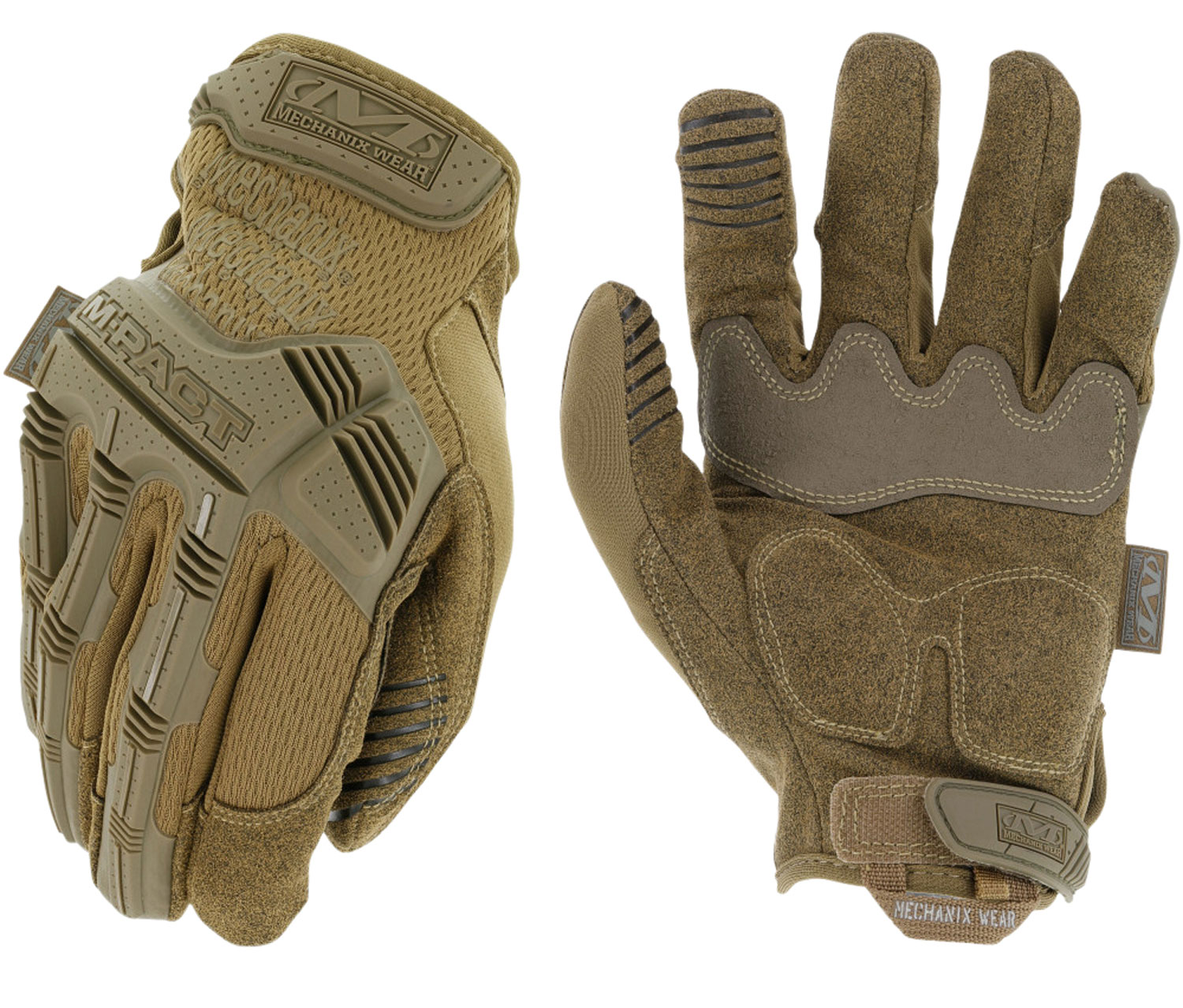 Mechanix Wear MPT-72-010 M-Pact Gloves Coyote Touchscreen Synthetic Leather Large