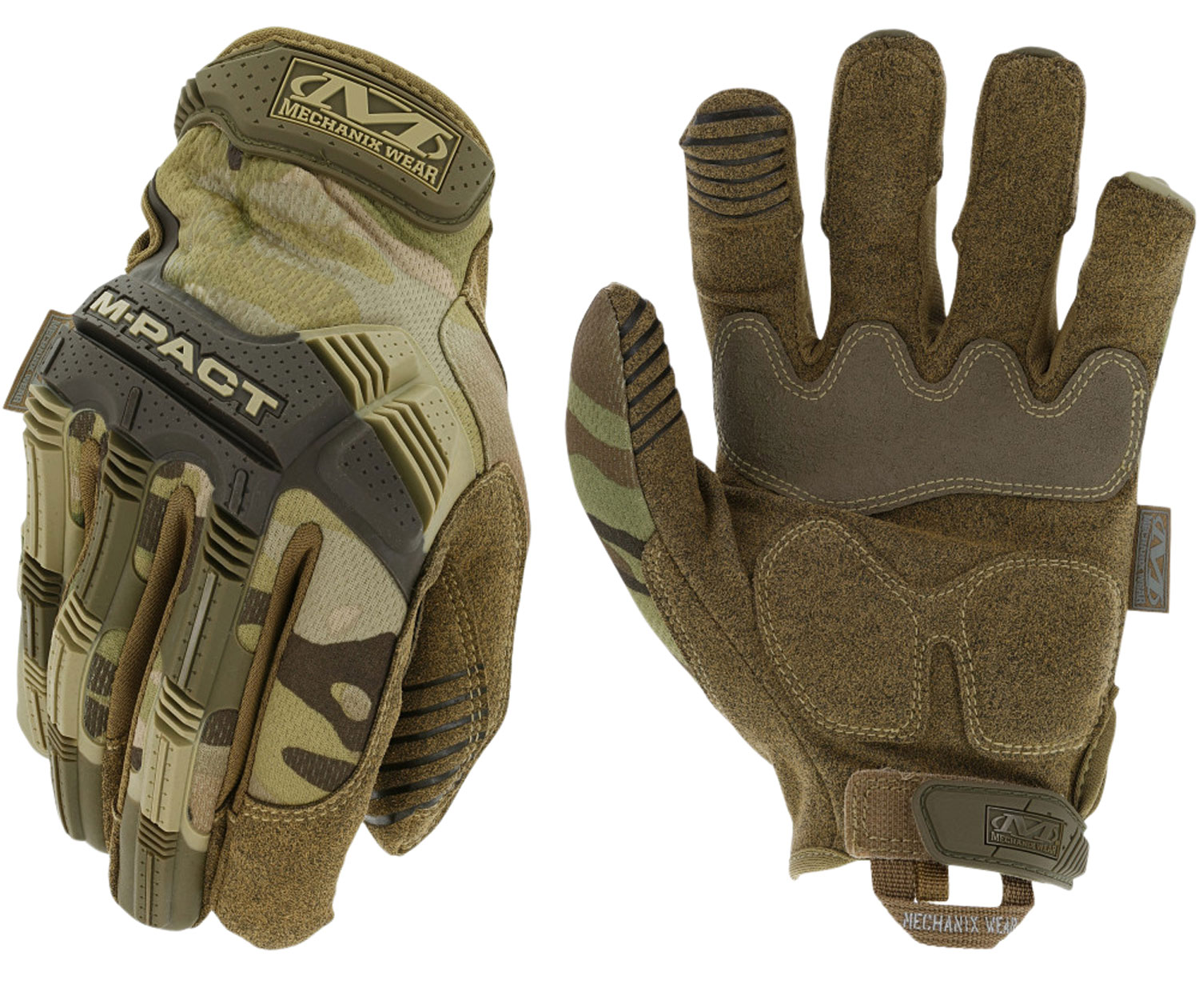 Mechanix Wear MPT-78-010 M-Pact Gloves MultiCam Touchscreen Synthetic Leather Large