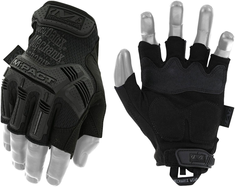 MECHANIX WEAR MFL-55-011 M-Pact Fingerless Covert XL Black Synthetic Leather