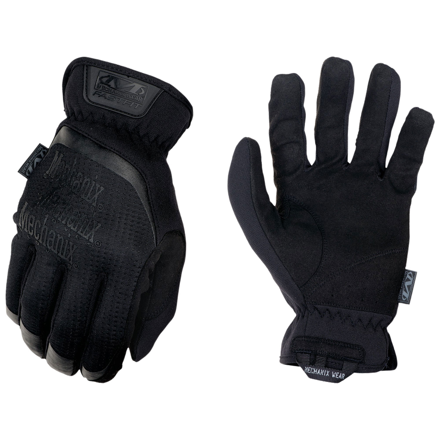 MECHANIX WEAR FFTAB-55-009 FastFit Covert Medium Black Synthetic Leather Touchscreen