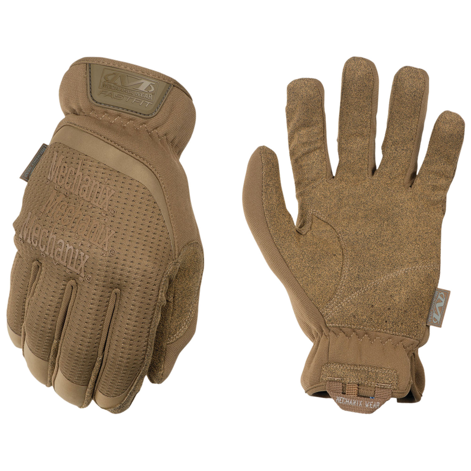 MECHANIX WEAR FFTAB-72-009 FastFit  Medium Coyote Synthetic Leather Touchscreen