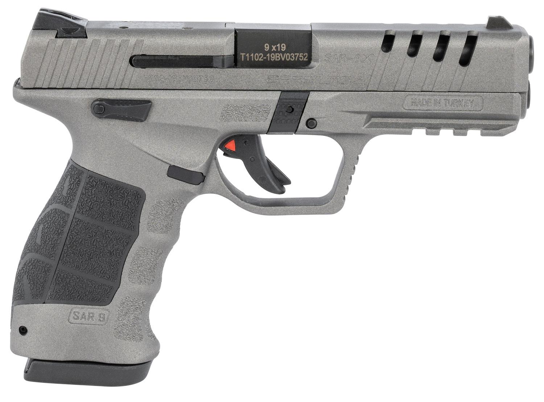 SAR USA SAR9X Pistol  <br>  9mm 4.4 in. Platinum 19 rd.