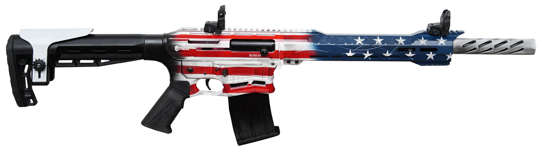 Citadel CBOSS2512USA Boss-25  American Flag Cerakote 12 Gauge 18.75