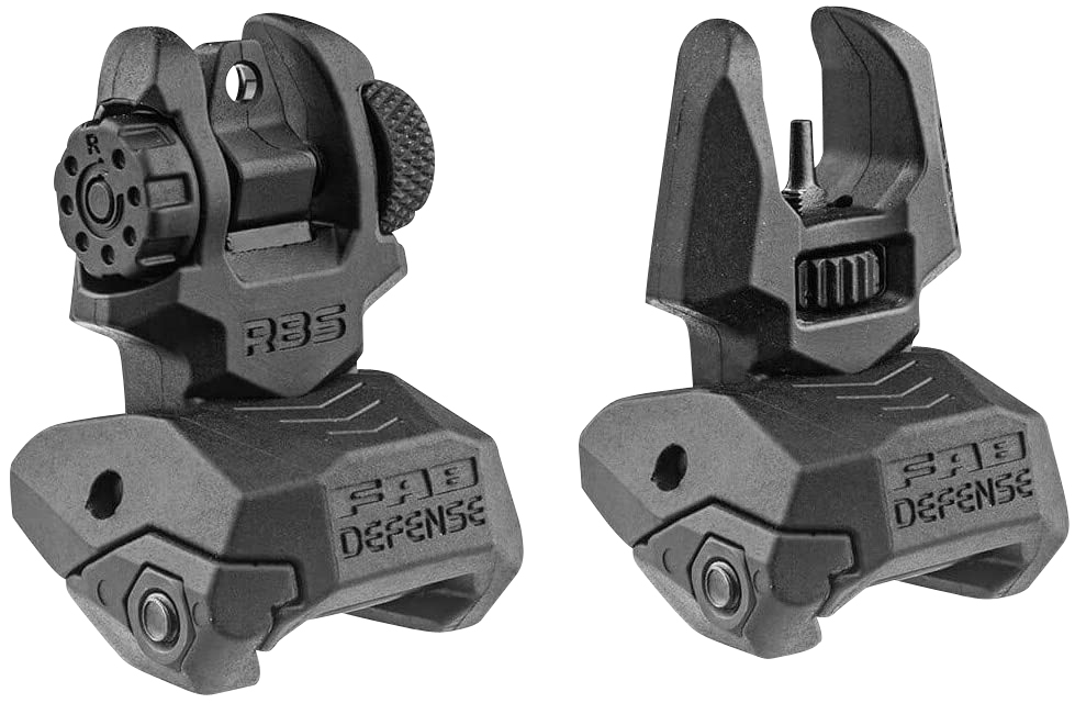 FAB DEF POLY FLIP-UP SIGHT SET BLK