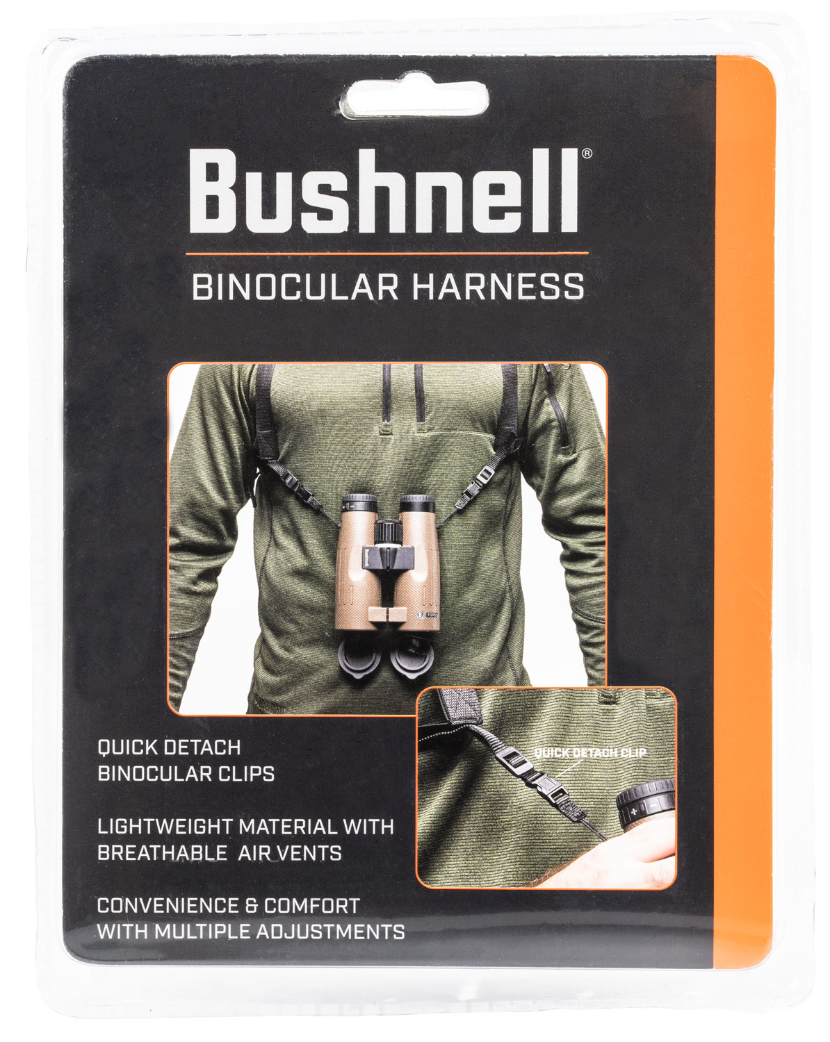 Bushnell BASFHARN Universal Binocular Harness Mesh Black with Quick Release Clips