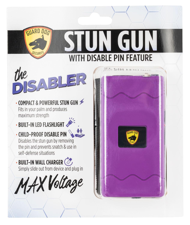 Guard Dog SDGDDHVPR Disabler Stun Gun  with Flashlight Purple Rubber Coated