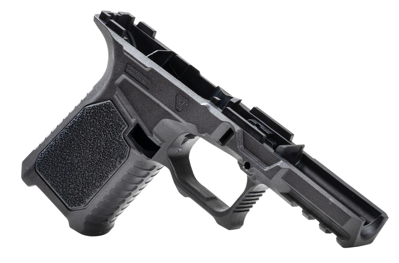 Strike STRIKE80-C-BK 80% Compact Pistol Frame Kit fits Glock 19/23 Gen3 Black Polymer Aggressive Texture Grip