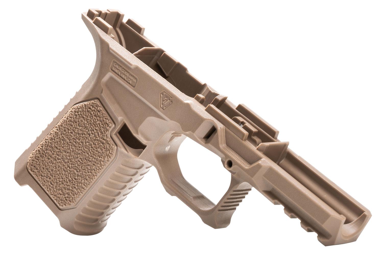 Strike STRIKE80-C-FDE 80% Compact Pistol Frame Kit fits Glock 19/23 Gen3 Flat Dark Earth Polymer Aggressive Texture Grip