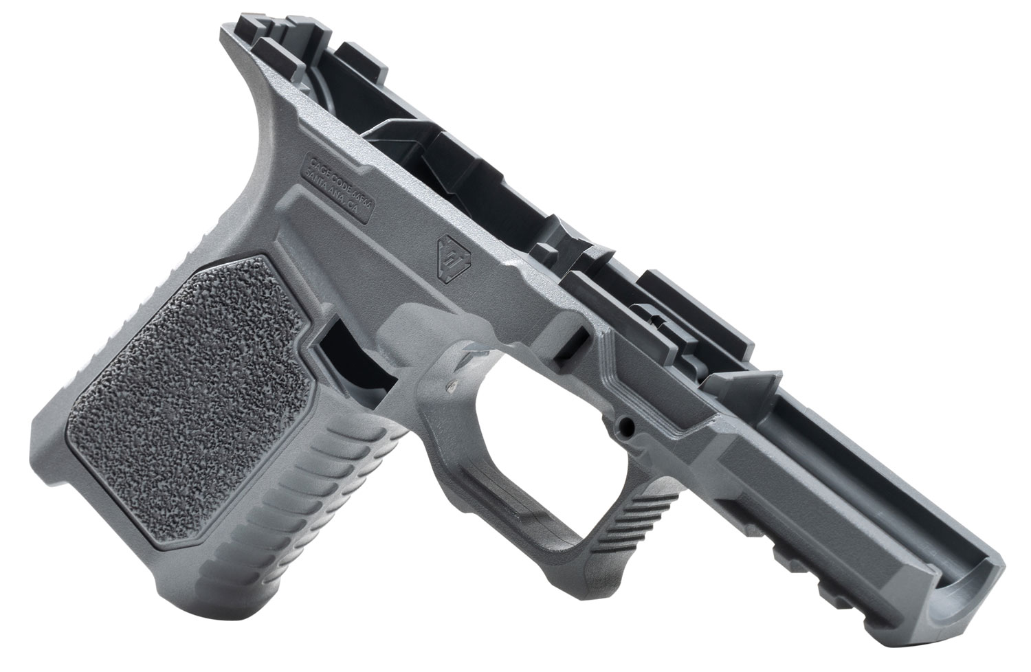 Strike STRIKE80-C-GY 80% Compact Pistol Frame Kit fits Glock 19/23 Gen3 Gray Polymer Aggressive Texture Grip