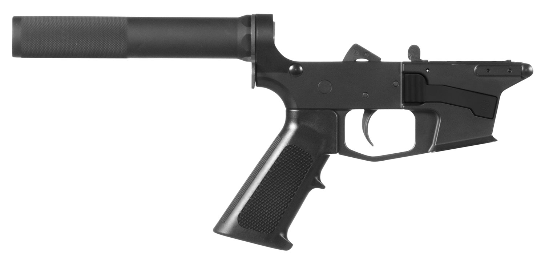 CMMG 92CA339 Banshee 100 MK17 AR-Pistol Platform Lower Group Black CMMG Pistol Tube Stock 7075 T6 Aluminum Black Hardcoat Anodized Receiver