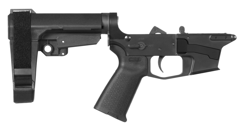 CMMG 92CA3BD Banshee 300 MK17 AR-Pistol Platform Lower Group Black CMMG 6 Position RipBrace Stock 7075 T6 Aluminum Black Hardcoat Anodized Receiver
