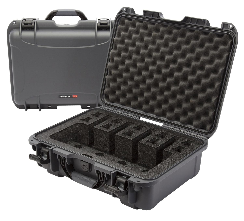 Nanuk 925-4UP7 925 4 UP Pistol Case with Foam Graphite Polyethylene