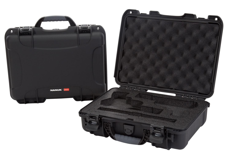 Nanuk 910-CLASG1 910 Classic 2 Up Pistol Case Black Polyethylene
