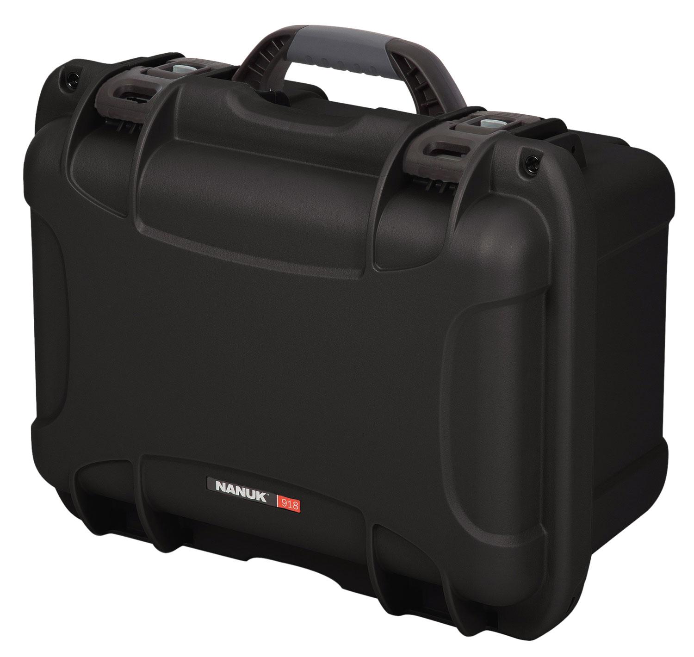 Nanuk 918-1001 918 Case with Foam Medium Polyethylene Black