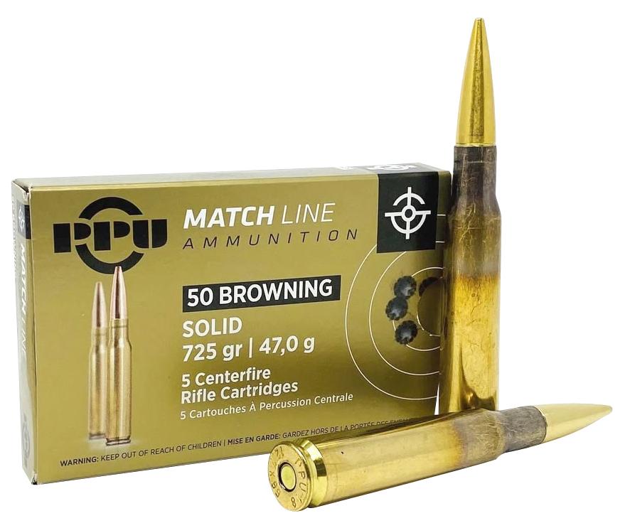 PPU PPM50 Match  50 BMG 725 gr Full Metal Jacket 5 Bx/ 20 Cs