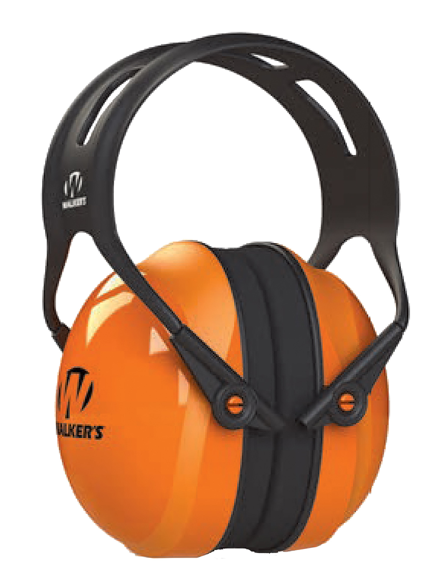 Walkers GWP-SF-PSM-MD Maxprotec  Polymer 27 dB Over the Head Orange Ear Cups with Black Headband Medium