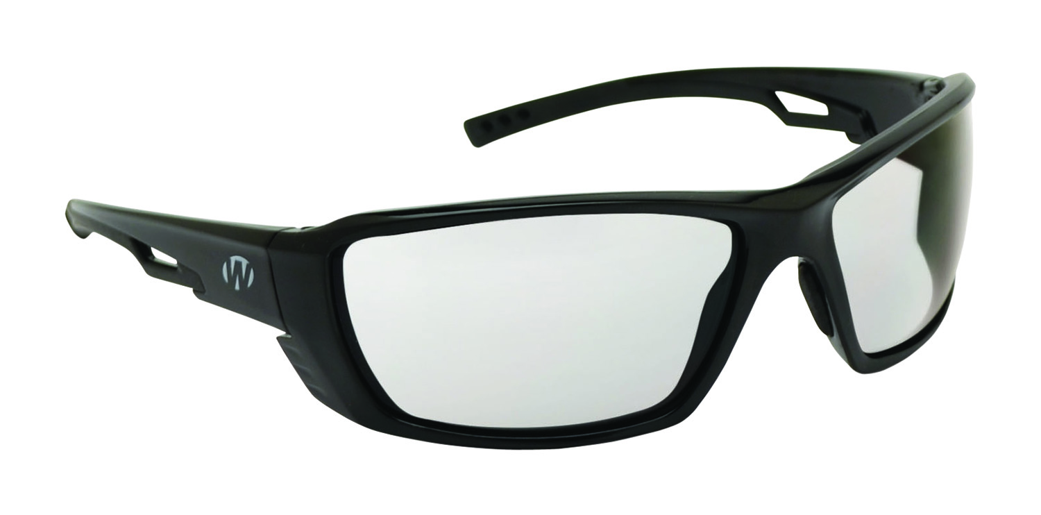 Walkers GWP-SF-8283-CL Premium Safety Glasses 8283 Clear Polycarbonate Black