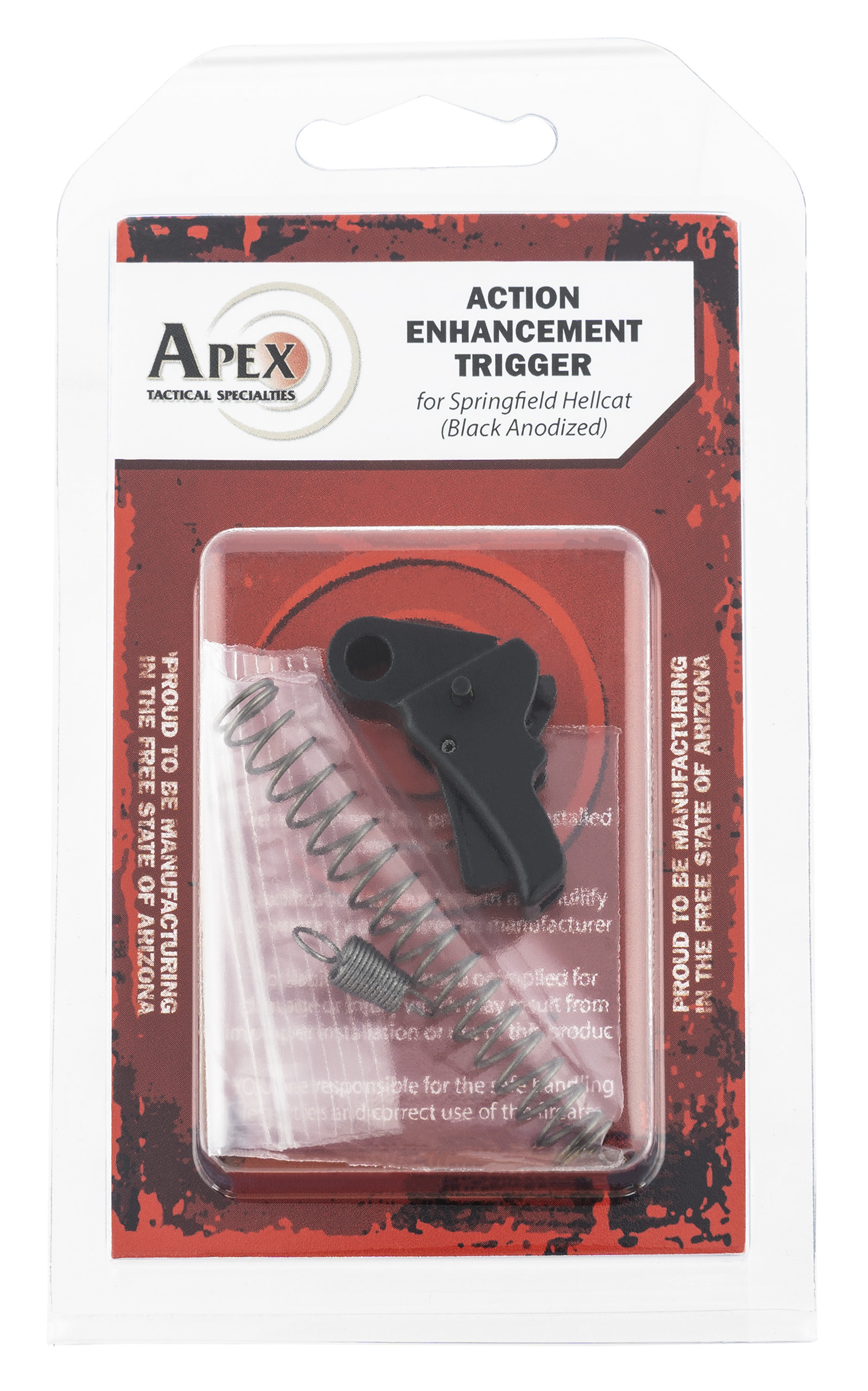 APEX TACTICAL SPECIALTIES 115112 Action Enhancement  Trigger Springfield Hellcat Black Curved 5-5.50 lbs