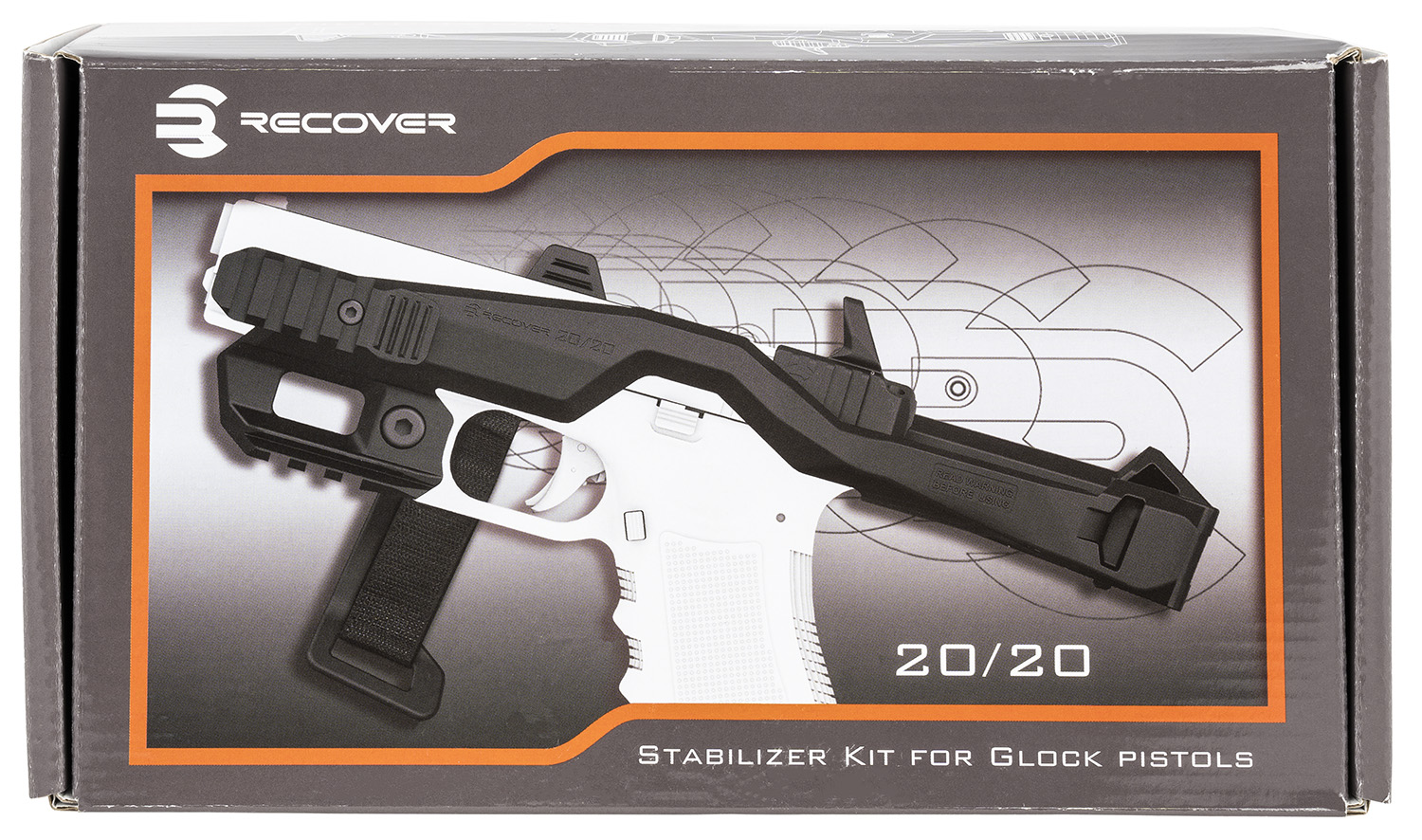 Recover Tactical 20/20H Tactical 20/20 Stabilizer Kit  Synthetic Black with G7 Holster w/Pistol Adapter